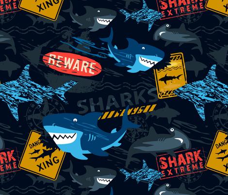 Shark Extreme fabric by sarah_treu on Spoonflower - custom fabric