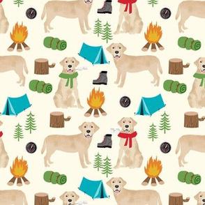 yellow labrador camping outdoors dog breed fabric light