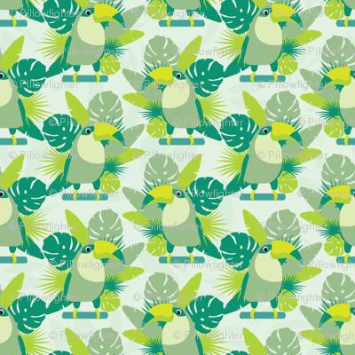 Toucans seamless pattern