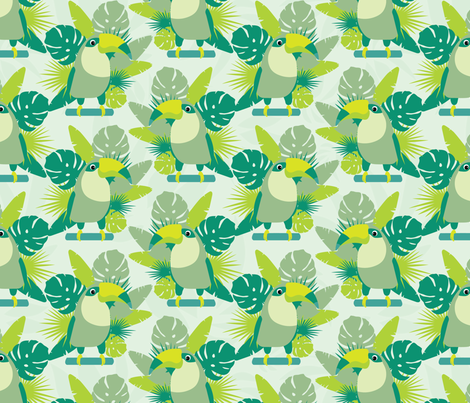 Toucans seamless pattern fabric by pillowfighter on Spoonflower - custom fabric