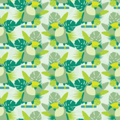 Toucans seamless pattern