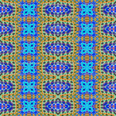 Blue Mosaic Stripes