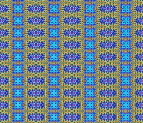 Blue Mosaic Stripes fabric by just_meewowy_design on Spoonflower - custom fabric