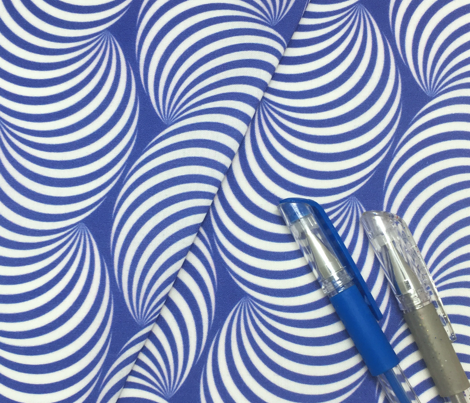 Striped Pipe Optical Illusion (Two-Way) - Blue