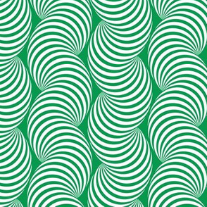 Striped Pipe Optical Illusion (Two-Way) - Green