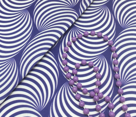 Striped Pipe Optical Illusion (Two-Way) - Navy