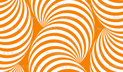 Striped Pipe Optical Illusion (Two-Way) - Orange