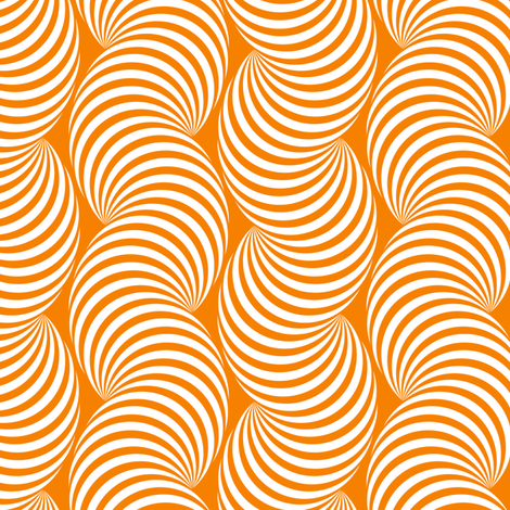 Striped Pipe Optical Illusion (Two-Way) - Orange fabric by siya on Spoonflower - custom fabric