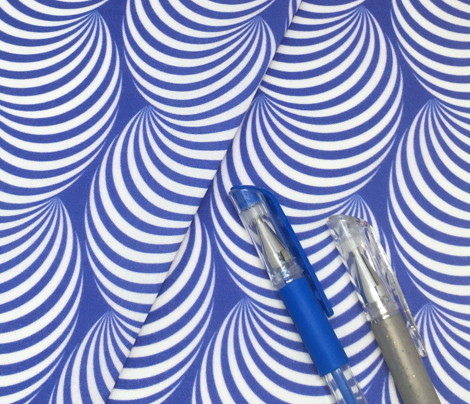 Striped Pipe Optical Illusion (One Way) - Blue