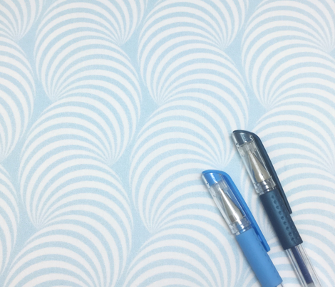 Striped Pipe Optical Illusion (One Way) - Light Blue