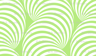 Striped Pipe Optical Illusion (One Way) - Light Green