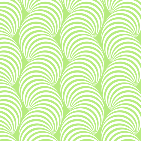 Striped Pipe Optical Illusion (One Way) - Light Green fabric by siya on Spoonflower - custom fabric