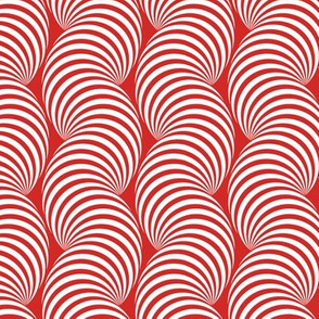 Striped Pipe Optical Illusion (One Way) - Red