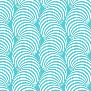 Striped Pipe Optical Illusion (One Way) - Turquoise