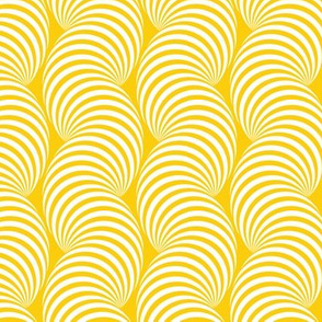 Striped Pipe Optical Illusion (One Way) - Yellow