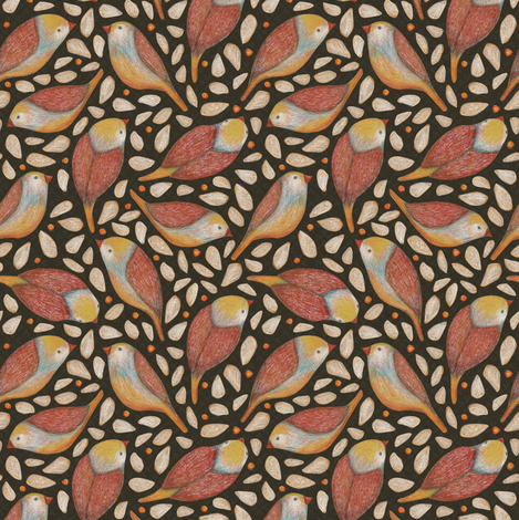 little birds fabric by lilalunis on Spoonflower - custom fabric