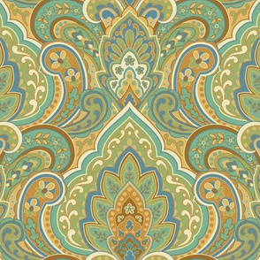 Gilded Paisley Rust