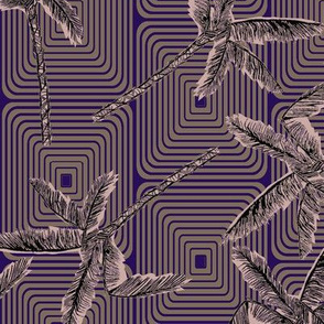 Tropicana purple geometric