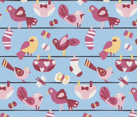 animals from the washing line fabric by lisahilda on Spoonflower - custom fabric