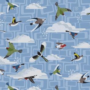 Mid Century Garden Birds
