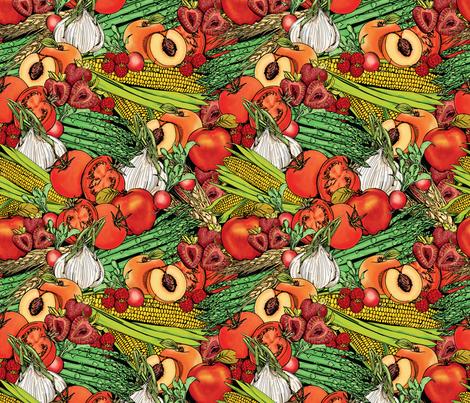 Fruits and Veggies fabric by nikkimay on Spoonflower - custom fabric