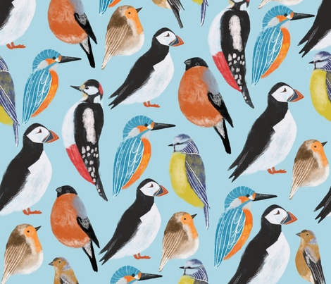 Birds  fabric by chloepow on Spoonflower - custom fabric