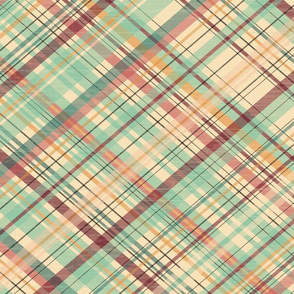 Market Plaid Diagonal - Jumbo