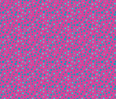 Bubblegum Dots fabric by clarekettering on Spoonflower - custom fabric