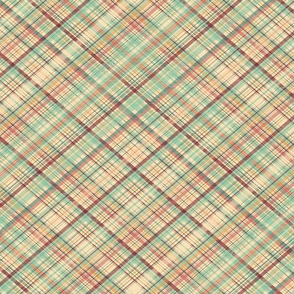 Market Plaid Diagonal - mini