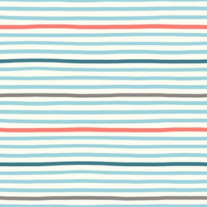 wavy stripes aqua blue