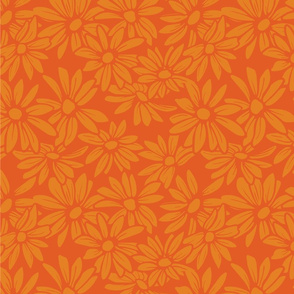 Flower - Orange on Orange