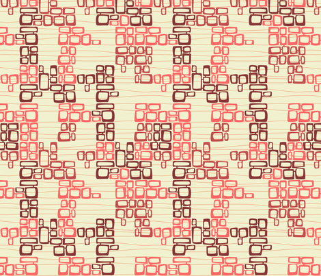 Tiki Brick Wall Strawberry Milk fabric by madtropic on Spoonflower - custom fabric