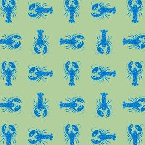 blue and green lobster