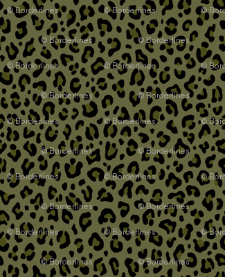 ★ CAMO LEOPARD - LEOPARD PRINT in OLIVE GREEN ★ Medium Scale / Collection : Leopard spots – Punk Rock Animal Print