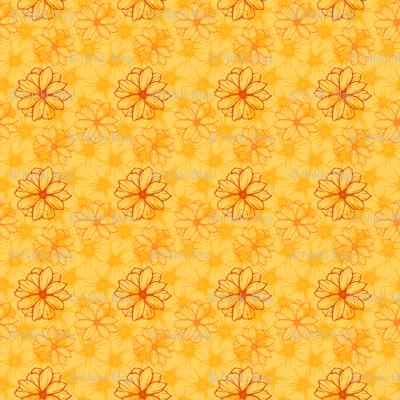 Orange Flowers 3