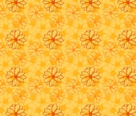 Orange Flowers 3 fabric by nikkimay on Spoonflower - custom fabric