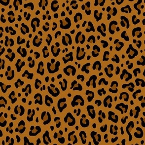 ★ LEOPARD PRINT in YELLOW OCHRE ★ Small Scale / Collection : Leopard spots – Punk Rock Animal Print
