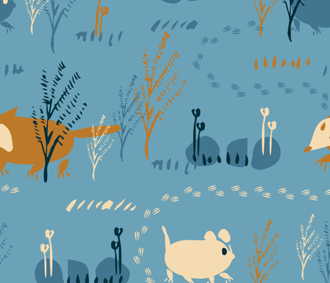 blue wilderness fabric by dragonli on Spoonflower - custom fabric