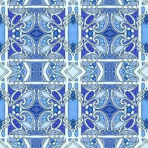 Blue Trellis Twist