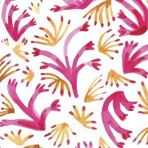 Pink and Gold Cactus Pattern