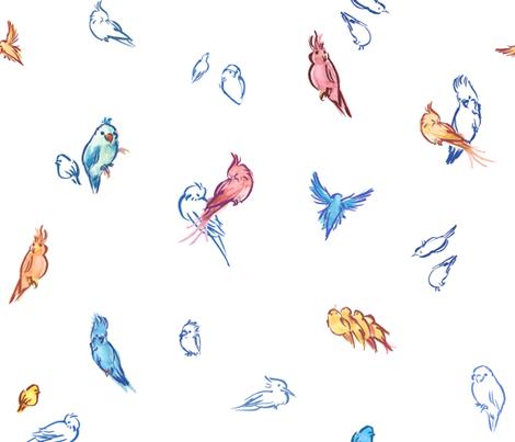 Aves fabric by deliriosa on Spoonflower - custom fabric