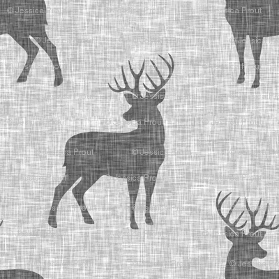 grey bucks on light grey linen