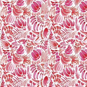 FVP011_Flowing Florals and Rooster Pattern-01