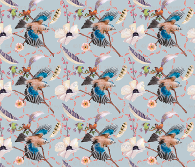 birds of a feather octagonal pats