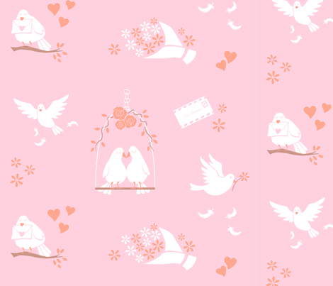Lovey Dovey fabric by ringosparkle on Spoonflower - custom fabric
