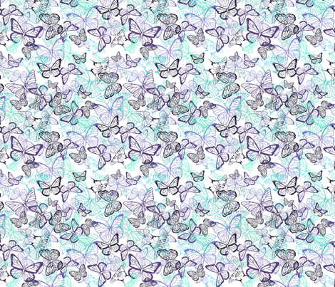 Tiny Butterflies fabric by ficklemuse on Spoonflower - custom fabric