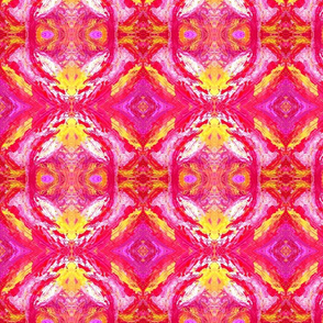 Abstract Art in  vibrant pinks magentas & orange