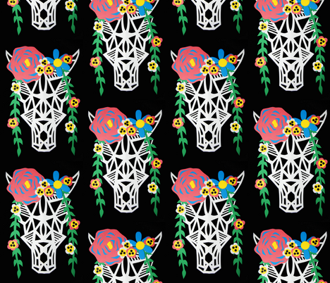 floralbull fabric by funksion on Spoonflower - custom fabric