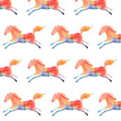 Rainbow horse - half brick