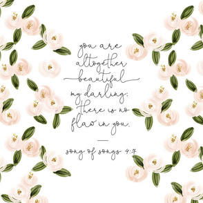 """18"""" x 27"""": you are altogether beautiful my darling // soft pink"""